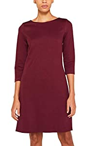 ESPRIT Damen 119EE1E020 Kleid, Rot (Bordeaux Red 600), (Herstellergröße: 40)