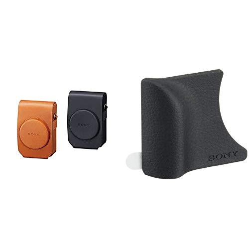 Sony LCS-RXG Custodia Morbida in Pelle per Fotocamere serie RX100, Marrone & AGR2 Impugnatura per DSC-RX100, DSC-RX100M2, DSC-RX100M3, DSC-RX100M4