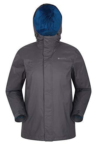 Mountain Warehouse Torrent Jacke für Herren - Wasserfeste Regenjacke, Leichter Mantel mit versiegelten Nähten, Freizeitjacke Grau S