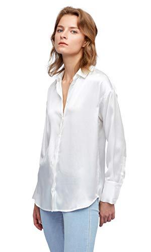 LilySilk Seidenhemd Seidenbluse Damenhemd Bluse Langarmbluse Damen aus Seide Verpackung MEHRWEG