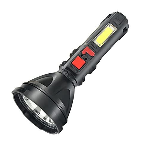 boode Linterna Linterna LED de 3 W súper Brillante - Linterna Recargable Lumen Alto 3 Modos Impermeable Portátil, al Aire Libre Linternas de Pesca para Senderismo Emergencia Uso Diario