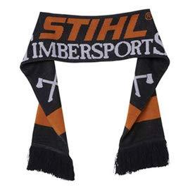 Stihl TIMBERSPORTS sjaal zwart 100% POLIACRILICO, oranje en wit bewerkt.