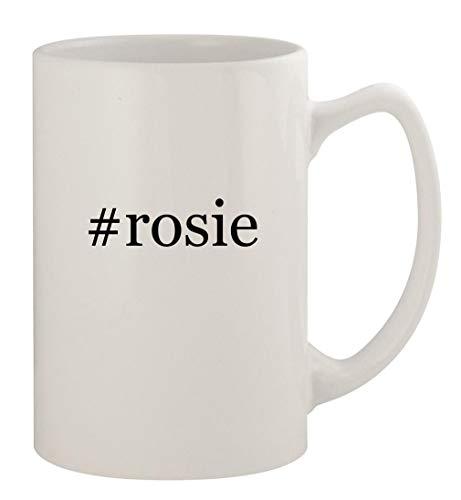#rosie - 14oz Ceramic White Statesman Coffee Mug, White