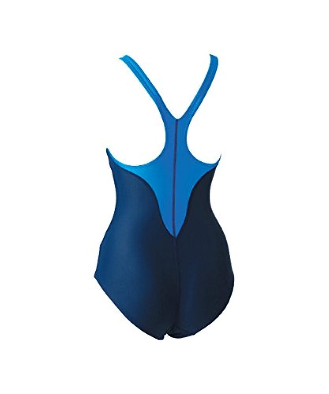 インフラ欠伸要求するFOOTMARK(フットマーク) レディース フィットネス スクール水着 ワンピース アクアライン 101530 ブルー(10) LL