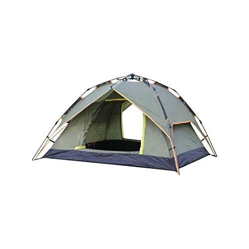 SQQSLZY Tienda de campaña, 3-4 Personas Ligera Carpa, Impermeable a Prueba de Viento, protección UV, Ideal for la Playa, al Aire Libre, de Viaje, Senderismo, Camping, Caza, Pesca