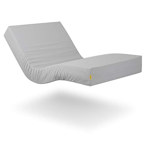 Ferlex - Colchón Sanitario | Articulado | Viscoelástico 6 cm. | Impermeable y Transpirable | Soporta hasta 105 kg. (105x190)
