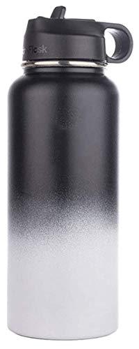 Botella de agua de 16 onzas, botella de agua de acero inoxidable aislada, botella de agua deportiva al vacío, termo térmico de viaje, juego de 2 Jsmhh (color: tipo 2)