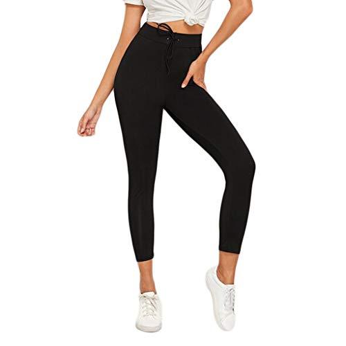 Damen-beiläufige gestreifte hohe Taillen-Hosen-elastische Taillen-beiläufige Hosen Noos Hose Freizeithose Damen Dünne Hohe Taillen Bleistift Hose Sonojie