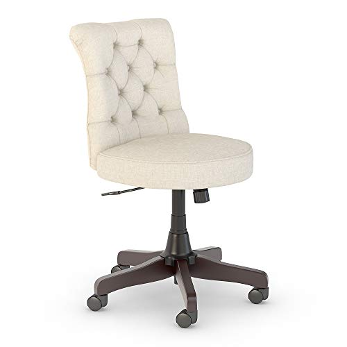 Bush Furniture Key West Mid Back Tufted Office Chair in Cream Fabric