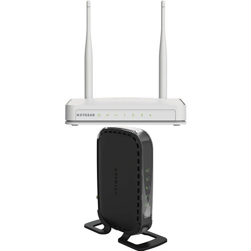 NETGEAR N300 Wi-Fi Router with High Power 5dBi External Antennas (WNR2020v2) and High Speed DOCSIS 3.0 Cable Modem (CM400-1AZNAS)