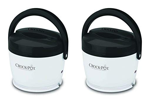 2) Crock-Pot SCCPLC200-G-NP Portable Lunch Crock Slow Cooker Food Warmers 20 oz.