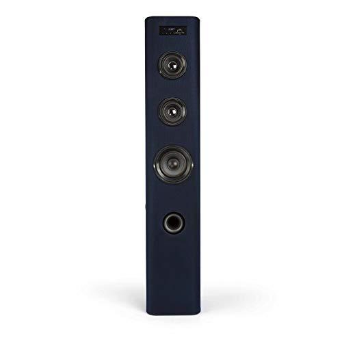 Bluetooth Lautsprecher Turmlautsprecher mit Fernbedienung und Subwoofer (USB Anschluss, FM Radio, Standlautsprecher, Holz Säule, Höhe 100 cm)