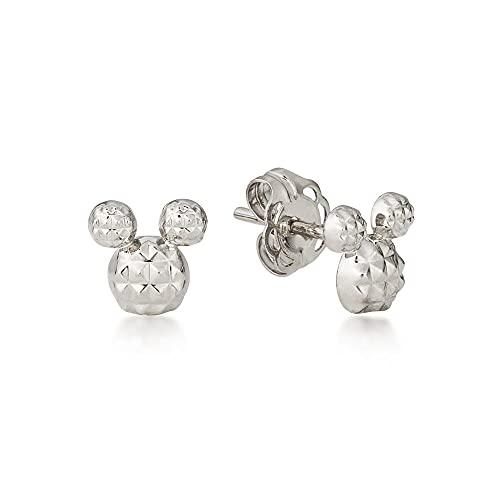 Disney by Couture Kingdom - Pendientes de metal precioso, diseño de Mickey Mouse