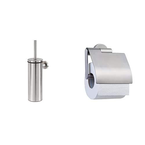 Tiger Kombi-Set Boston: Toilettenpapierhalter und Toilettenbürste, Edelstahl gebürstet