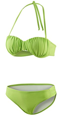 Beco Beermann Damen Bikini, C-Cup College 12 Hawaii Bikinioberteil, Oliv od. hellgrün, 40