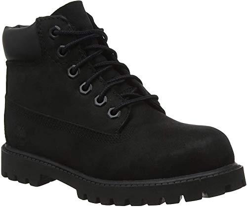 Timberland Unisex-Kinder 6-Inch Premium Waterproof Boot Klassische Stiefel, Schwarz (Black Nubuck), 35 EU