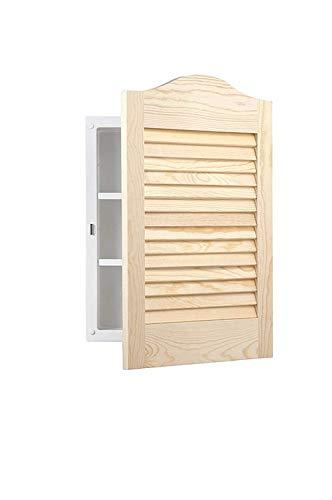 Jensen 605ADJ Basic Louver Unfinished Wood Single Recessed Medicine Cabinet