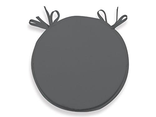 Soleil d'ocre 009233 Cuscino perSedia da bistrot 40 cm ALIX antracite