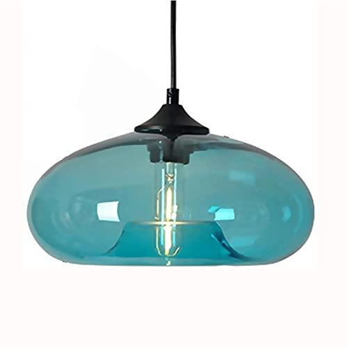 BHJH7 Pantalla de cristal moderna Iluminación suspendida Araña de bricolaje Lámpara colgante de loft Lámpara de techo retro Enchufe redondo E27 Accesorio colgante Art Deco AC110V - 240V [Clase energét