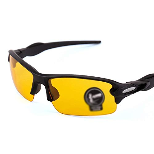 XUSHEN-HU Gafas de ciclismo para hombre y mujer polarizadas para hombre y mujer, gafas polarizadas y gafas de sol para ciclismo y deportes al aire libre (color: negro, tamaño: tamaño libre) Sungl