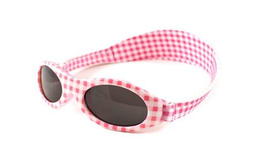 BabyBanz Hochwertige Kindersonnenbrille 0-2 Jahr Rosa/Weiss