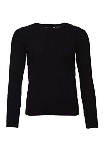 Superdry Damen Croyde Pullover mit Zopfmuster Verwaschen Marineblau 36