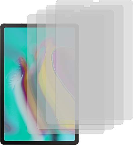 4ProTec I Samsung Galaxy Tab S5e 4X Crystal Clear klar Schutzfolie Bildschirmschutzfolie Displayschutzfolie Schutzhülle Bildschirmschutz Bildschirmfolie Folie