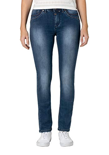 Timezone Damen Tahila Womenshape Slim Jeans, Blau (Bright Blue Wash 3151), W28/L32