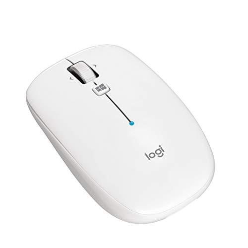 ロジクール ワイヤレスマウス 無線 薄型 マウス M557WH Bluetooth 6ボタン M557 ホワイト 国内正規品 3年間...