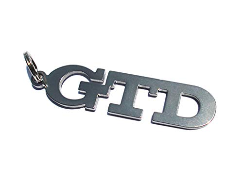 Emblème porte-clés GTD en acier inoxydable de haute qualité