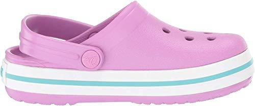 crocs Unisex-Kinder Crocband K Clogs, Pink (Violet-Pool), 32/33 EU