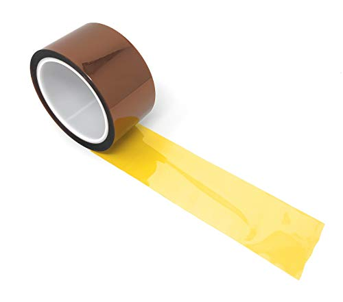 APT, 36 Yds Length,1 mil Thick Polyimide Adhesive Tape, high Temperature and Heat Tape, for Masking, Soldering, Electrical, 3D Printer Application. (2')
