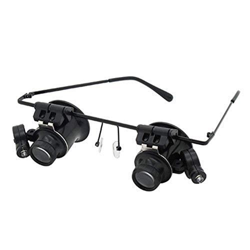 ZJBD Reparación de lupas Asistencia con discapacidad Visual - Lupa de Gafas Múltiples magnificación Viejo Hombre Lectura Lupa Lupa Lupo LED 5 Establecer Lente Lupas Luminosas