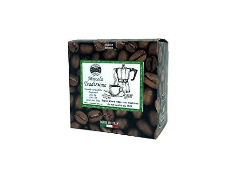 Caffè Vicerè Miscela Tradizione, caffè in capsule compatibili Nespresso 100% Compostabili.