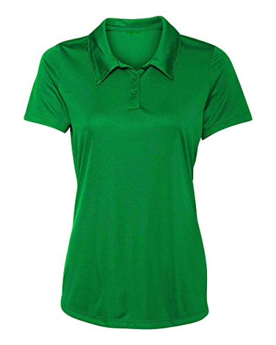 Women's Dry-Fit Golf Polo Shirts 3-Button Golf Polo's in 20 Colors XS-3XL Shirt KLYGRN-XS Kelly Green