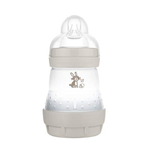 MAM Easy Start Anti-Colic Elements Babyflasche (160 ml), Milchflasche für die Kombination mit dem Stillen, Baby Trinkflasche mit Bodenventil gegen Koliken und Sauger Größe 1, 0+ Monate, Hase