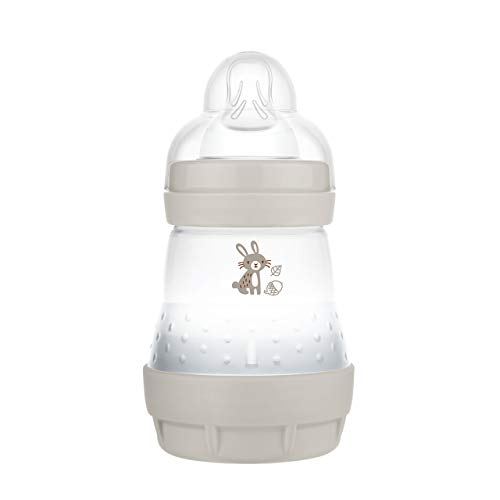MAM Easy Start - Biberón anticólicos (160 ml), Botella de Leche para la Lactancia Materna, con válvula Inferior contra cólicos y...