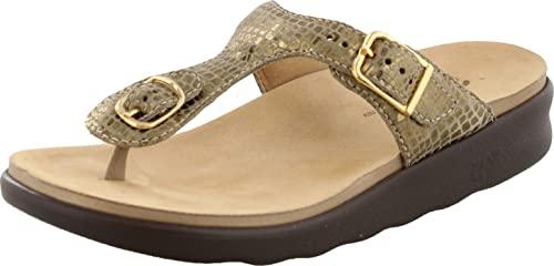 SAS Womens Sanibel Thong Sandal (8 M (M) (B) US, Olive Gold)