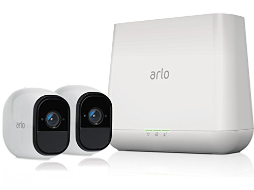 Arlo Pro - 2 Camera System, Work with Alexa, Inbuilt alarm siren, Rechargeable, Wire-Free, 720p HD, Audio, Indoor/Outdoor, Night Vision (VMS4230-100AUS)