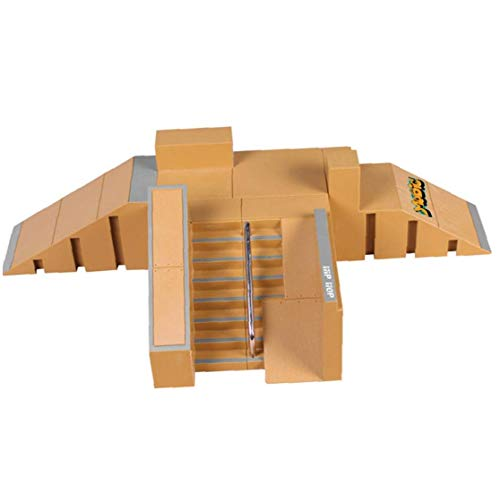 Odoukey Mini Finger Skate Park Kit de rampa de Piezas con Las Juntas de Dedo para Finger monopatín último Parques Formación Puntales 1 Set Dedo monopatín de Juguete