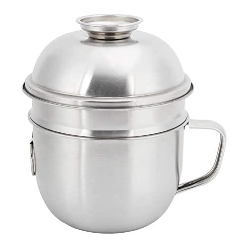 ZLQBHJ 2 strati Scatola for pranzo in acciaio inox impermeabile, tazza di zuppa di noodle termica con coperchio Bento scatole, for bambini adulti portatili acciaio inox contenitori alimenti in acciaio