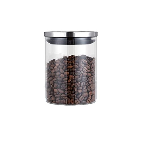 AAZZ tarros El Recipiente De Café De Vidrio 2 Jarra Sellado Establece La Tapa De Grado Alimenticio con Frasco De Almacenamiento De Té De Contenedor Alimentos (Color : 620ml X1)
