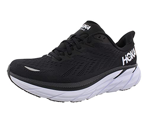 HOKA ONE ONE Clifton 8 Womens Shoes Size 7.5, Color: Black/White