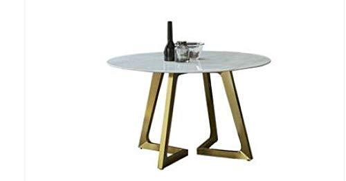 Eettafel LKU Onderhandelingstafel en stoel combinatie moderne minimalistische marmeren eettafel ronde salontafel, 120cm
