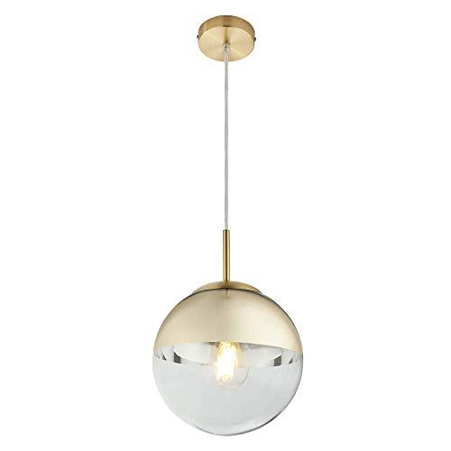 Design bol plafond hanglamp woonkamer verlichting glas slinger lamp goud helder Globo 15855