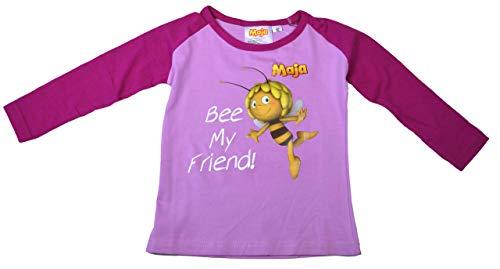 Biene Maja T-Shirt Rosa/Pink Langarm Violett Lila Gr. 98 Shirt Willi Honigbiene Klatschmohnwiese Flipp Thekla Puck Fräulein Kassandra, Biene Maja Rosa/Pink, 98