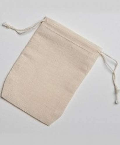 2.75x4 Inch Double Drawstring Cotton Muslin Bags 250 Count Pack by Celestial Gifts