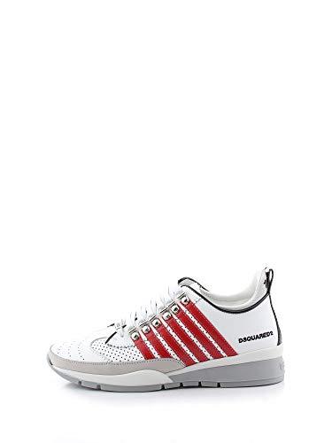 Dsquared2 Hombre 251 Zapatillas Bianco + Rosso 40 EU