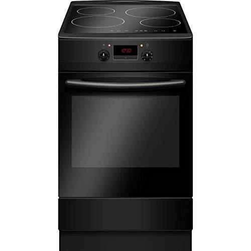 Cuisiniere induction 50 x60 4 zones 4 boosters commandes sensitives 6400W four électrique multifonctions 65L Classe A