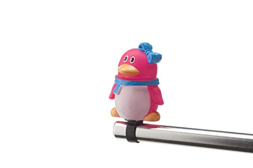 Boninbike Cartoons Campanello a Pupazzo Pinguino Fuxia